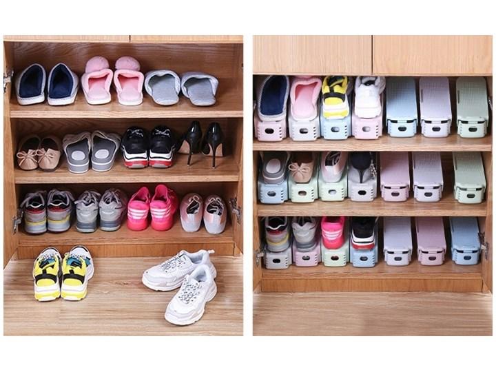 Komplet regulowanych uchwytów na buty 10 sztuk biały Tworzywo sztuczne Kategoria Wieszaki na odzież wierzchnią