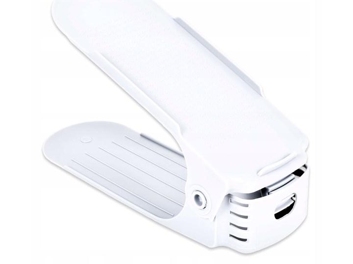 Komplet regulowanych uchwytów na buty 10 sztuk biały