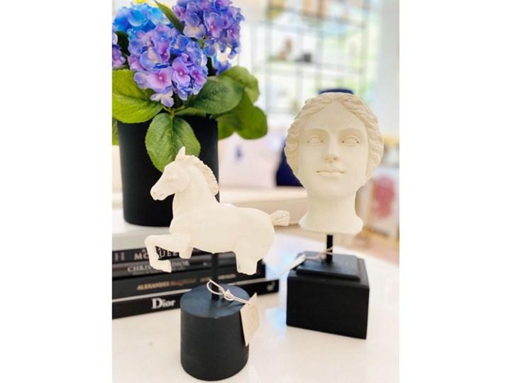 FIGURKA DEKORACYJNA GŁOWA ANTYCZNA HELENA 12,5x13xh35cm Kategoria Figury i rzeźby Kamień Kolor Biały