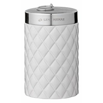 Pojemnik ceramiczny biały Portia 9x9x14cm