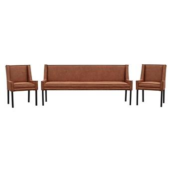Zestaw ławka i krzesła Amsterdam