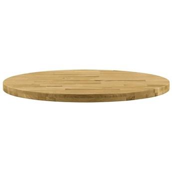 VidaXL Okrągły blat do stolika z litego drewna dębowego, 44 mm, 700 mm