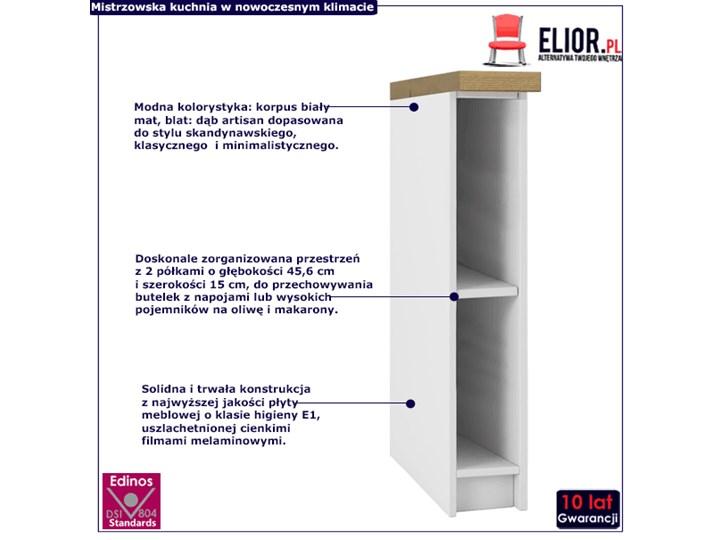 Szafka słupek Stejar 2X - biały mat + dąb artisan Drewno Kategoria Szafki kuchenne