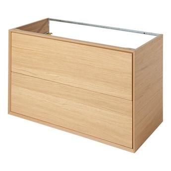 Szafka z szufladami pod umywalkę GoodHome Avela 100 cm drewno