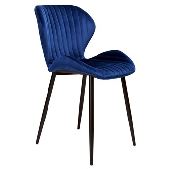 Krzesło welurowe DALLAS VELVET Granatowe