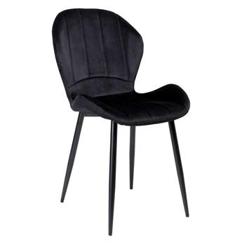 Krzesło welurowe SHELBY VELVET Czarne
