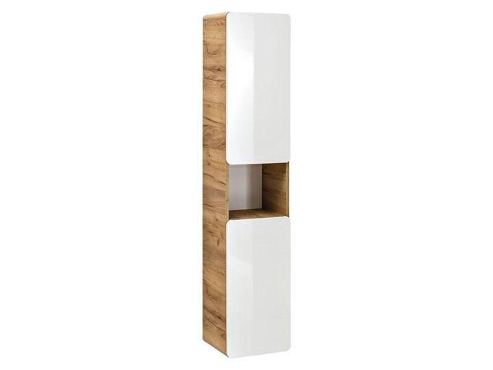 Zestaw podwieszanych mebli łazienkowych Borneo 3Q 60 cm - Biały połysk Kategoria Zestawy mebli łazienkowych Kolor Brązowy