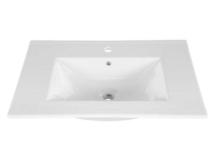 Zestaw podwieszanych mebli łazienkowych Borneo 3Q 80 cm - Biały połysk Kategoria Zestawy mebli łazienkowych Kolor Brązowy