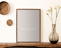 Plakat Work on you (21x30 cm)