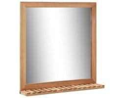 VidaXL Lustro łazienkowe, 60x12x62 cm, z ramą z drewna orzechowego