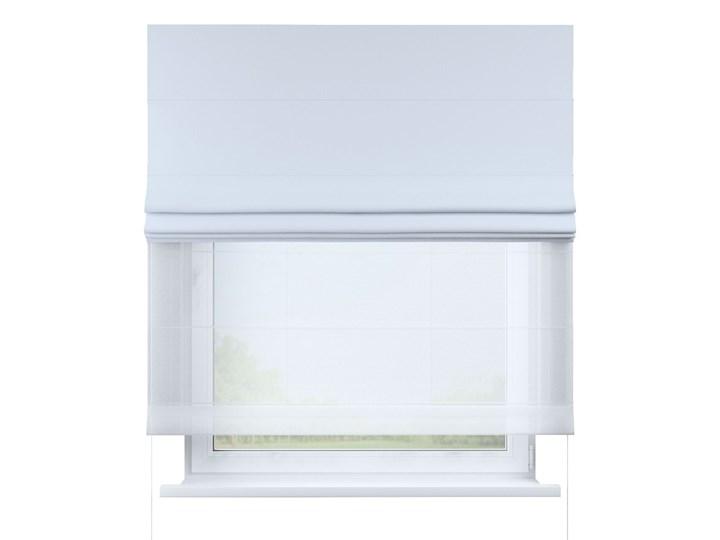 Roleta rzymska Duo, szaro-biały, szer.130 × dł.170 cm, Blackout - zaciemniające Roleta woalowa Pomieszczenie Kuchnia Pomieszczenie Jadalnia