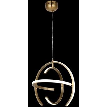 Nowoczesna okrągła lampa wisząca miedź 80330-02-PB3-CO ORISTANO SALON SYPIALNIA JADALNIA LUCEA STL