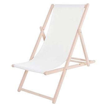 Leżak drewniany lakierowany biały