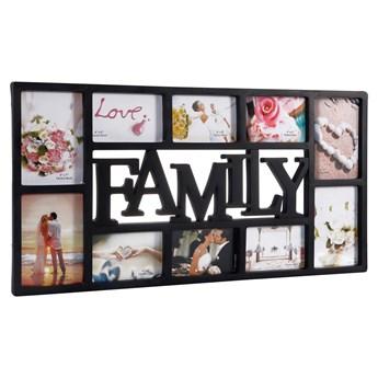 Ramka na zdjęcia 10 zdjęć multiramka Family czarna