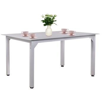 Stół ogrodowy i na taras szary szkło z aluminium 150 cm