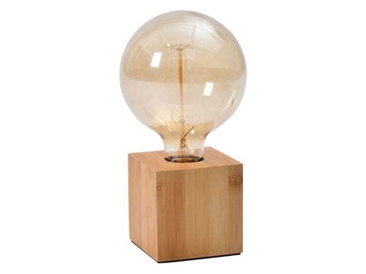 Lampa stołowa GoodHome Qausuit Bamb E27 kwadratowa Lampa dekoracyjna Wysokość 9 cm Wysokość 15 cm Styl Skandynawski