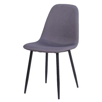 Krzesło tapicerowane Fox Jonstrup czarne nogi