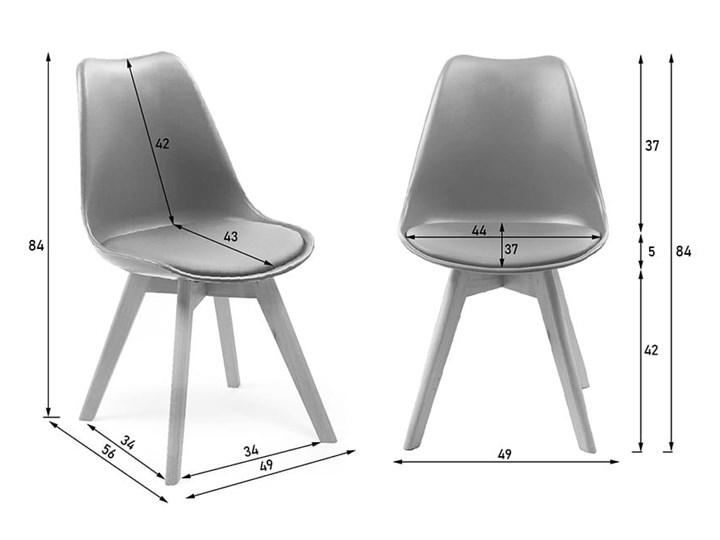 NOWOCZESNE KRZESŁO 53E-7 BIAŁE Skóra Szerokość 48 cm Drewno Głębokość 42 cm Tworzywo sztuczne Krzesło inspirowane Tkanina Styl Skandynawski