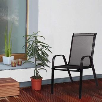 Krzesło ogrodowe metalowe czarne na balkon