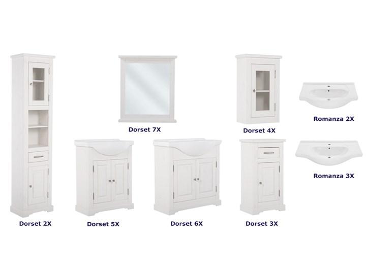 Umywalka ceramiczna meblowa Romanza 3X Ceramika Meblowe Kategoria Umywalki Półokrągłe Kolor Biały