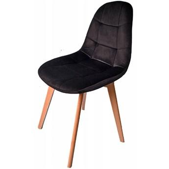 Krzesło Westa welurowe velvet czarne