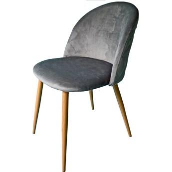 Krzesło welurowe velvet aksamit szare