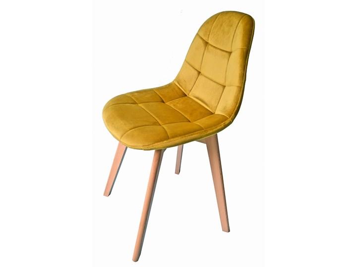 Krzesło Westa welurowe velvet musztardowe