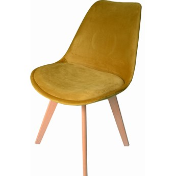 Krzesło DIOR welurowe velvet musztardowe