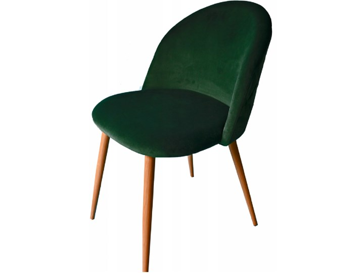 Krzesło welurowe velvet aksamit butelkowa zieleń