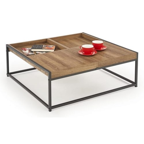 Loftowy stolik modyfikowany blat - tacki 80x84