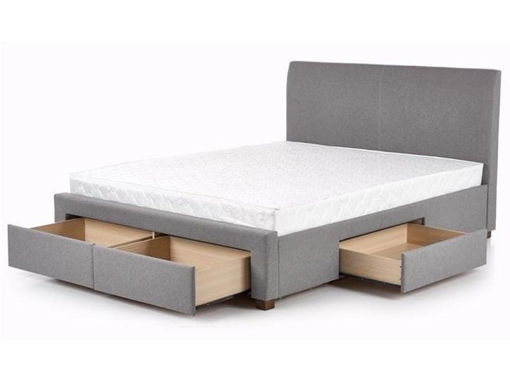 Łóże małżeńskie szare z zagłówkiem 140x200 Kategoria Łóżka do sypialni