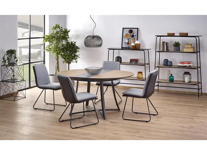 Krzesło z miękkim siedziskiem, metalowe płozy, loft Głębokość 55 cm Tkanina Krzesło inspirowane Głębokość 48 cm Szerokość 44 cm Skóra ekologiczna Stal Szerokość 48 cm Wysokość 85 cm Tworzywo sztuczne Tapicerowane Styl Industrialny