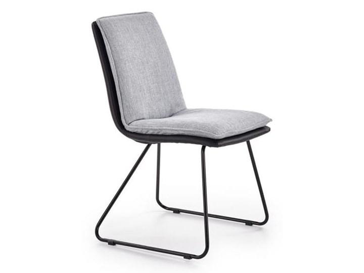 Krzesło z miękkim siedziskiem, metalowe płozy, loft Tapicerowane Głębokość 55 cm Stal Krzesło inspirowane Szerokość 44 cm Skóra ekologiczna Szerokość 48 cm Wysokość 85 cm Tkanina Tworzywo sztuczne Głębokość 48 cm Styl Nowoczesny