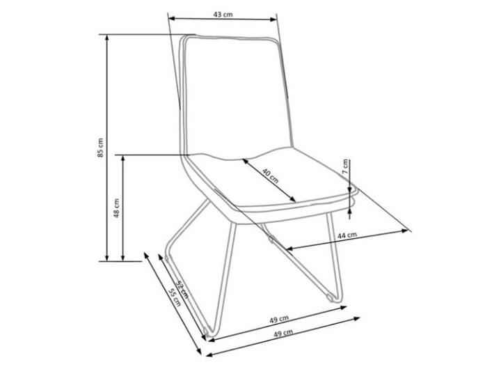 Krzesło z miękkim siedziskiem, metalowe płozy, loft Wysokość 85 cm Stal Szerokość 48 cm Skóra ekologiczna Tapicerowane Głębokość 55 cm Tworzywo sztuczne Tkanina Szerokość 44 cm Głębokość 48 cm Krzesło inspirowane Kategoria Krzesła kuchenne