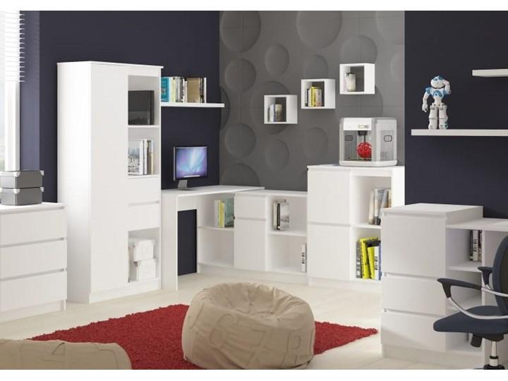 Białe biurko z szufladami i szafką narożne Biurko gamingowe Biurko komputerowe Biurko narożne Szerokość 155 cm Pomieszczenie Biuro Głębokość 85 cm Biurko regulowane Pomieszczenie Pokój nastolatka