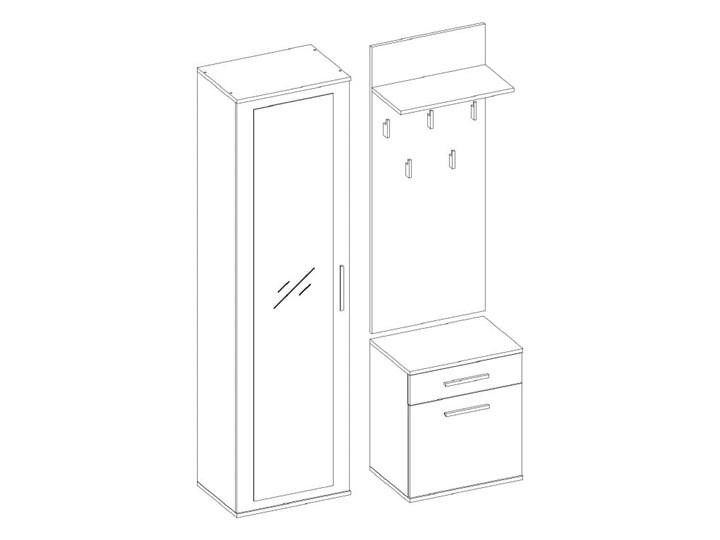 Biały zestaw mebli do korytarza z szafą Pomieszczenie Przedpokój