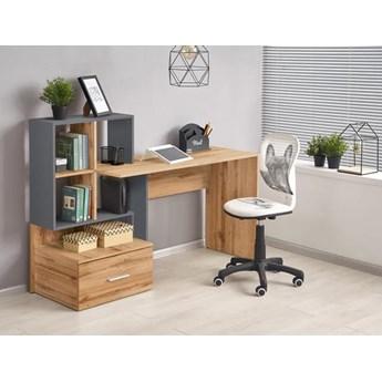 Loftowe biurko młodzieżowe z półkami i szufladą