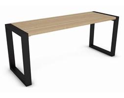 Stół do ogrodu metalowy stelaż + drewno, dąb 180 cm