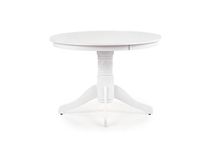 Elegancki okrągły stół do jadalni w kolorze białym Ø106cm Płyta MDF Długość 106 cm Wysokość 106 cm Drewno Szerokość 106 cm Pomieszczenie Stoły do salonu Wysokość 75 cm Pomieszczenie Stoły do kuchni