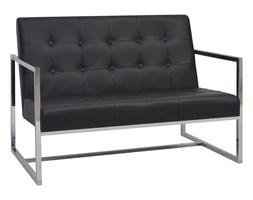 Czarna sofa wypoczynkowa, nowoczesna, do biura, poczekalni