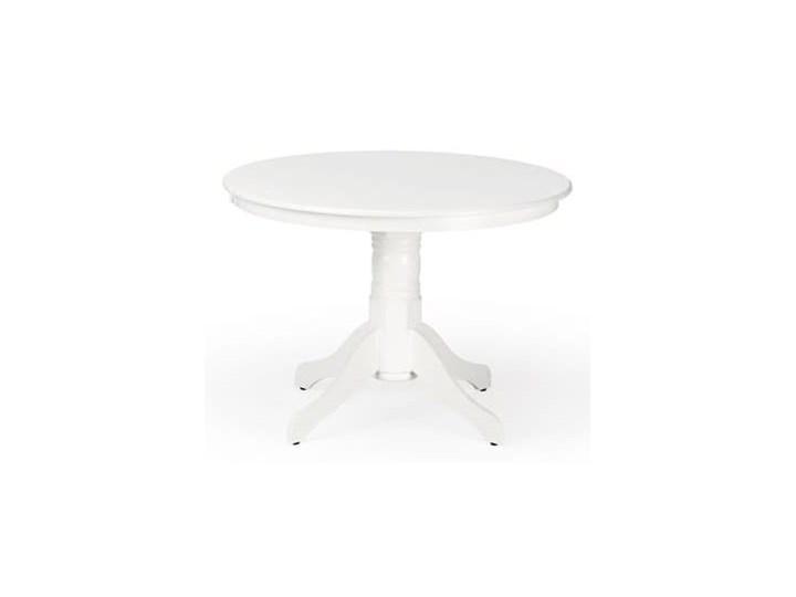 Elegancki okrągły stół do jadalni w kolorze białym Ø106cm Wysokość 106 cm Długość 106 cm Płyta MDF Wysokość 75 cm Drewno Szerokość 106 cm Styl Minimalistyczny
