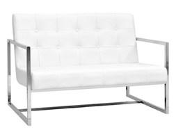 Biała sofa klubowa w stylu glamour, do poczekalni, salonu
