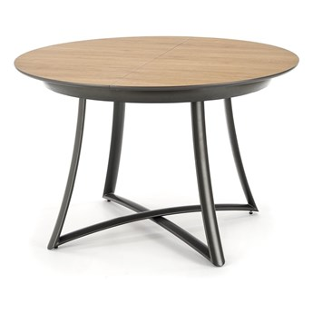 SELSEY Stół rozkładany Kim 118-148x118 cm dąb złoty