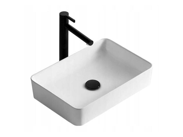 VELDMAN UMYWALKA CUBIC SLIM CIENKIE KRAWĘDZIE Szerokość 49 cm Ceramika Kategoria Umywalki Nablatowe Prostokątne Meblowe Kolor Biały