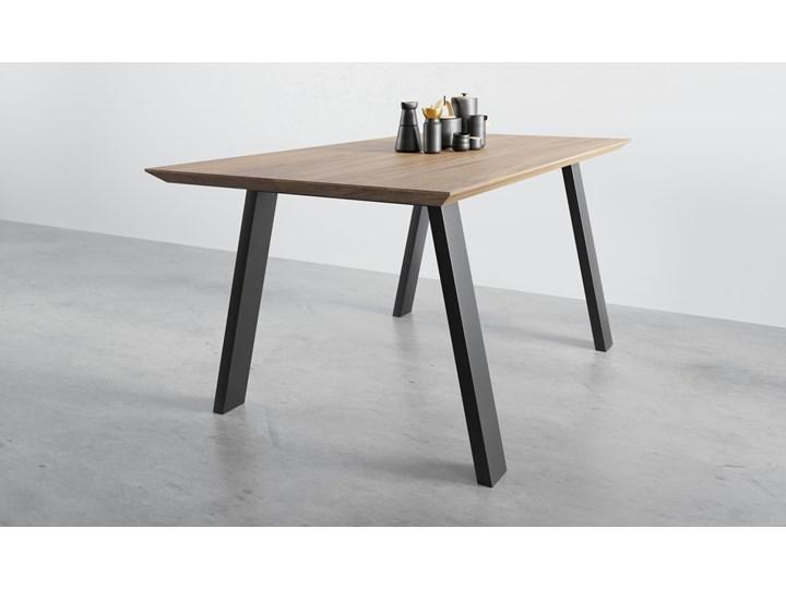 Stół z litego drewna dębowego ST 1 Drewno Wysokość 76 cm Stal Długość 170 cm Kolor Beżowy