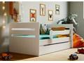 łóżko dla dziecka z materacem candy 2x 80x140 - białe Kolor Biały