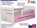 łóżko dla dziewczynki z materacem candy 2x 80x140 - różowe Kolor Różowy Rozmiar materaca 80x140 cm