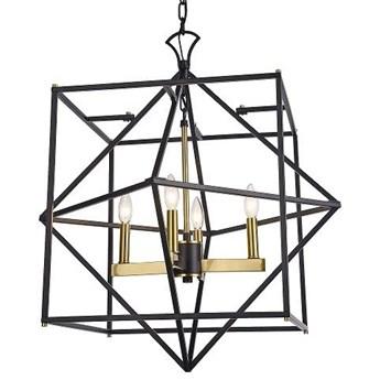 Żyrandol Nashville Black/Gold 63,5x73cm Cosmo Light