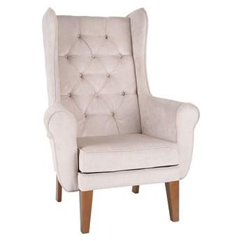 Fotel Uszak Chesterfield - 24h, z pikowaniem, wygodny, tapicerowany, klasyczny, do salonu