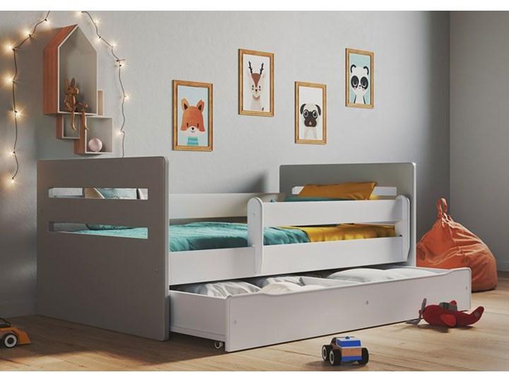 Łóżko dla dziecka z materacem Candy 2X mix 80x140 - szare Metal Płyta MDF Drewno Płyta meblowa Rozmiar materaca 80x140 cm